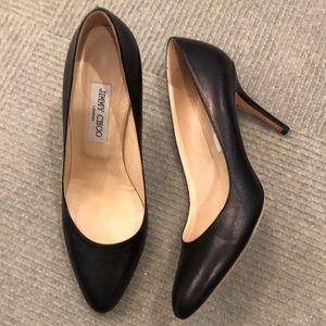Jimmy Choo black leather heels 40.5